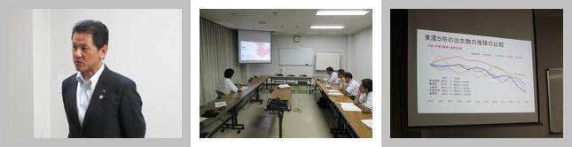 東濃地協 小坂喬峰恵那市長と地協役員懇談会開催