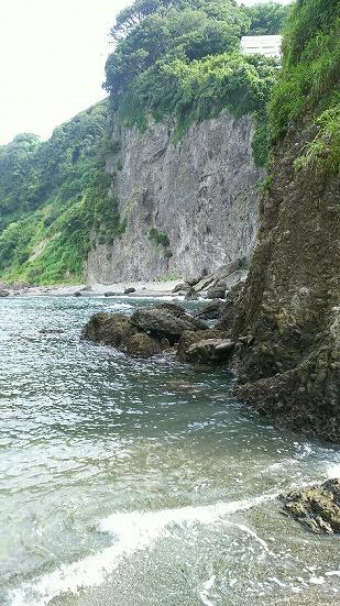 つば沢海岸の断崖