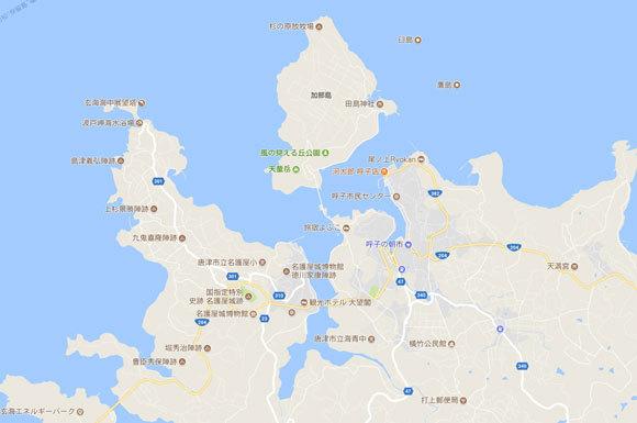 呼子 釣り 地図