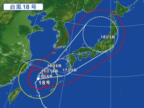 2017台風18号