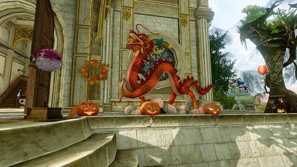 7月31日イベントの龍の置物