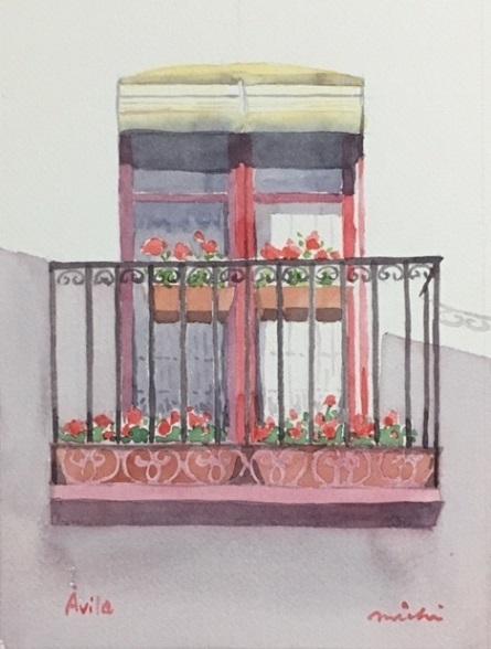 アビラ赤い窓