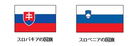 スロバキアとスロベニアの国旗比較