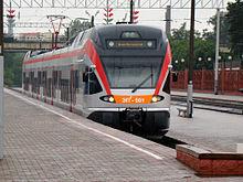 ミンスクの電車 220px-Stadler_FLIRT_Minsk Wikipediaより