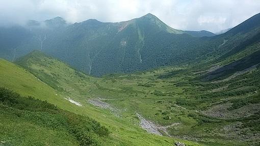戸蔦別岳と北カール