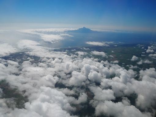 空からの利尻富士