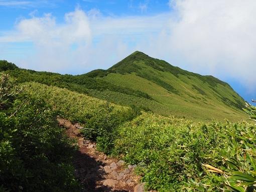 長官山へ下山