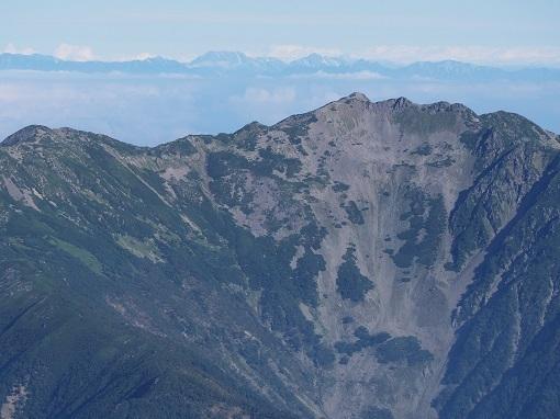 仙丈岳と北アルプス