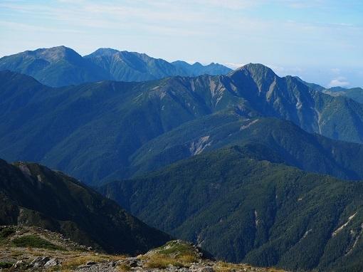 仙塩尾根と塩見岳