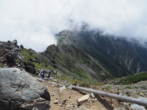 北岳への登り