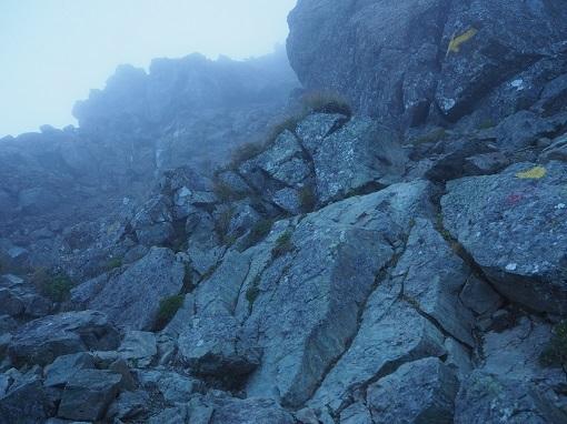 塩見岳の岩場