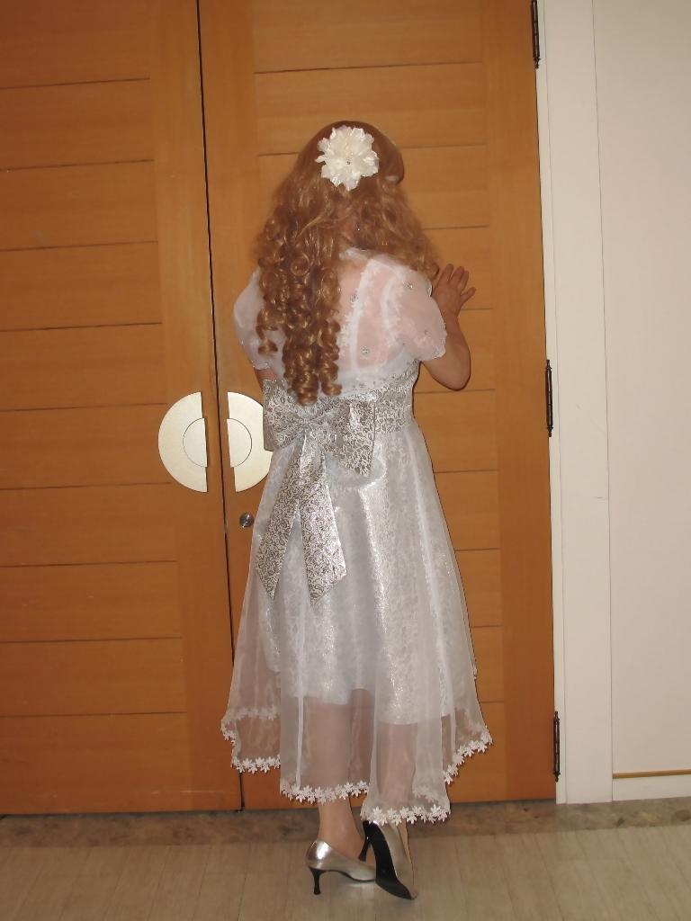 銀色のショートドレスB(3)