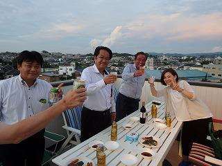 熊取での屋上バ-ベキュ-002