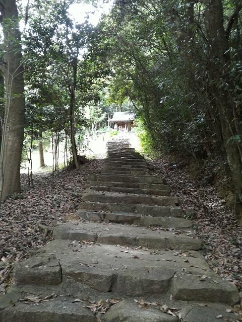 稲荷神社への階段