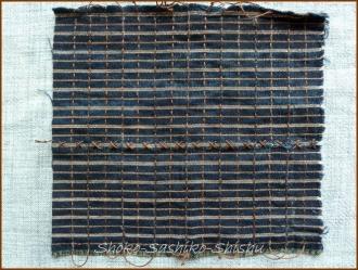 20170910 途中  3   こげ茶色の糸