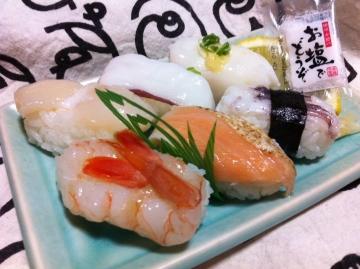 塩レモンで食べる寿司