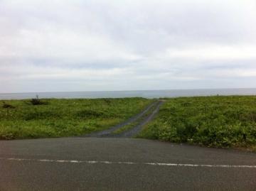 オホーツク海見えた