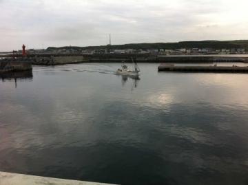 帰ってきた漁船