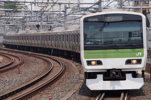 2017-07-16 山手線E231系トウ517編成 東京・品川方面行き