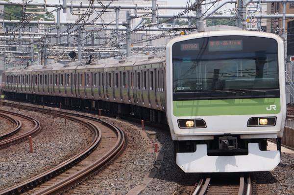 2017-07-16 山手線E231系トウ529編成 東京・品川方面行き