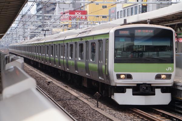 2017-07-16 山手線E231系トウ534編成 上野・池袋方面行き