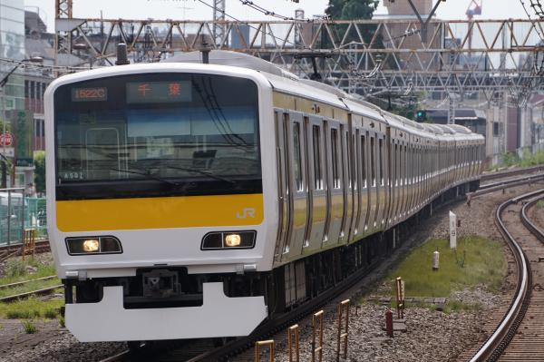 2017-07-16 総武線E231系ミツA507編成 千葉行き