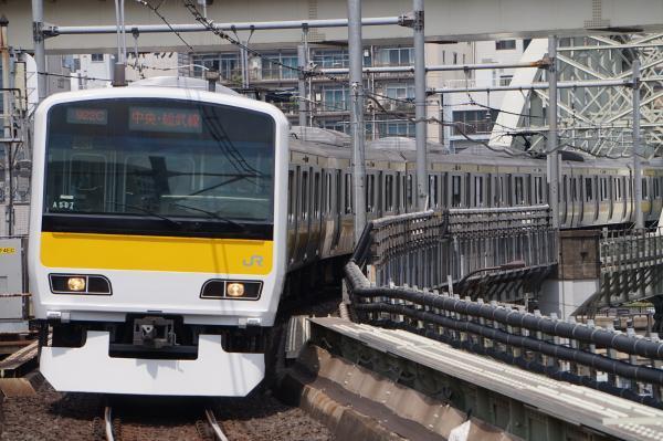2017-07-16 総武線E231系ミツA507編成 津田沼行き