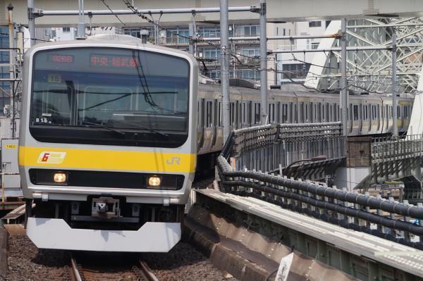2017-07-16 総武線E231系ミツB15編成 千葉行き