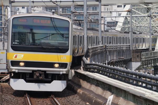 2017-07-16 総武線E231系ミツB24編成 千葉行き