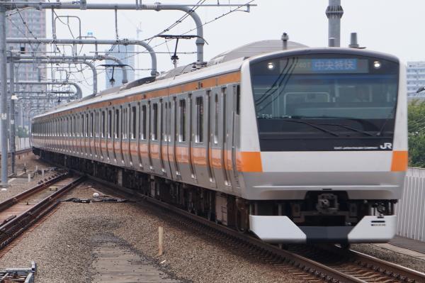 2017-07-16 中央線E233系トタT34編成 中央特快東京行き