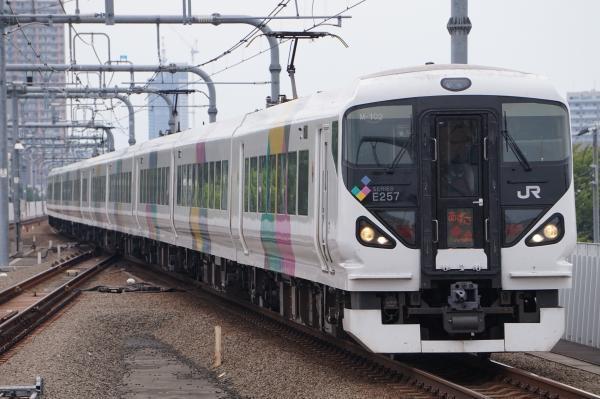2017-07-16 中央線特急E257系モトM-102編成 あずさ号新宿行き