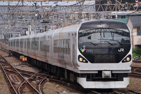 2017-07-16 中央線特急E257系モトM-114編成 かいじ号甲府行き