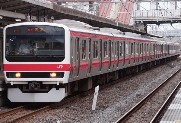 2017-07-29 京葉線209系ケヨ34編成 快速東京行き1