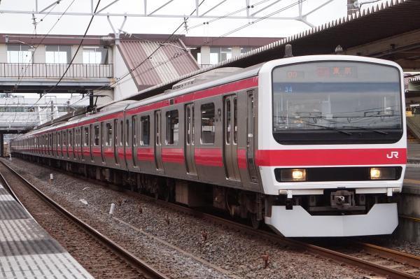 2017-07-29 京葉線209系ケヨ34編成 快速東京行き2