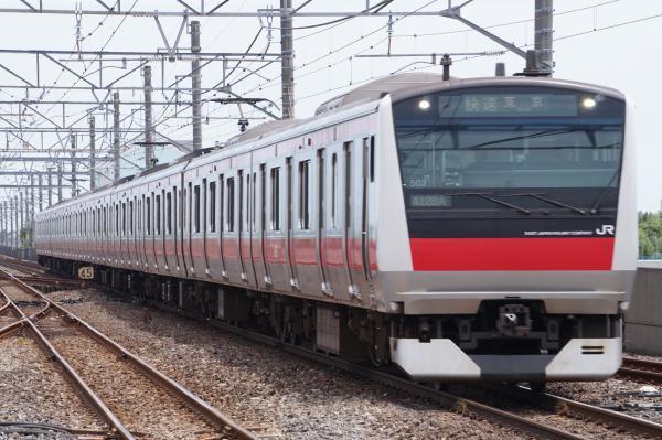 2017-07-29 京葉線E233系ケヨ502編成 快速東京行き