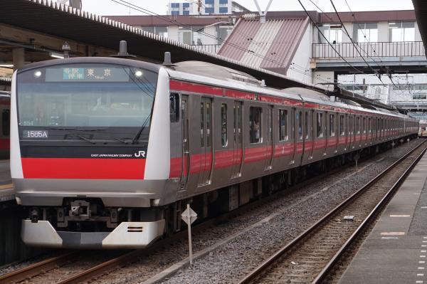 2017-07-29 京葉線E233系ケヨ554_F54編成 各駅停車東京行き