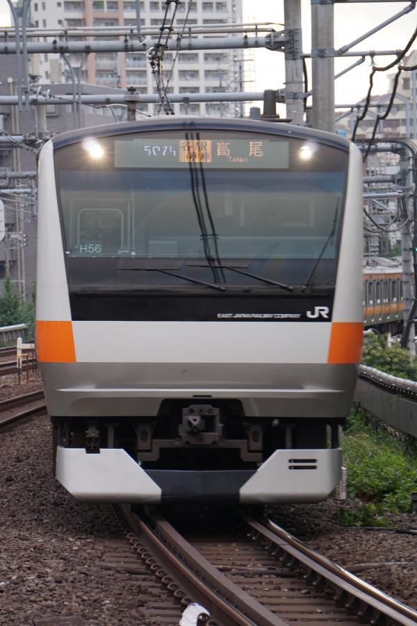 2017-08-07 中央線E233系トタH56編成 各駅停車高尾行き