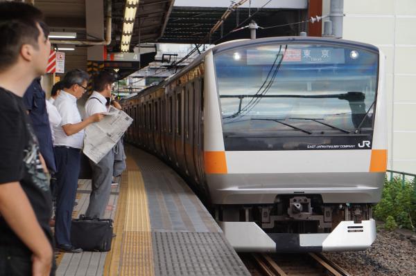 2017-08-07 中央線E233系トタT27編成 快速東京行き