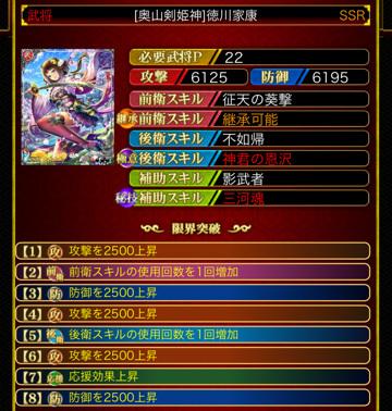 徳川家康8凸22