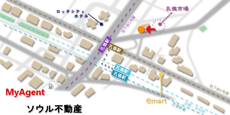 韓国 プオグク専門店 地図