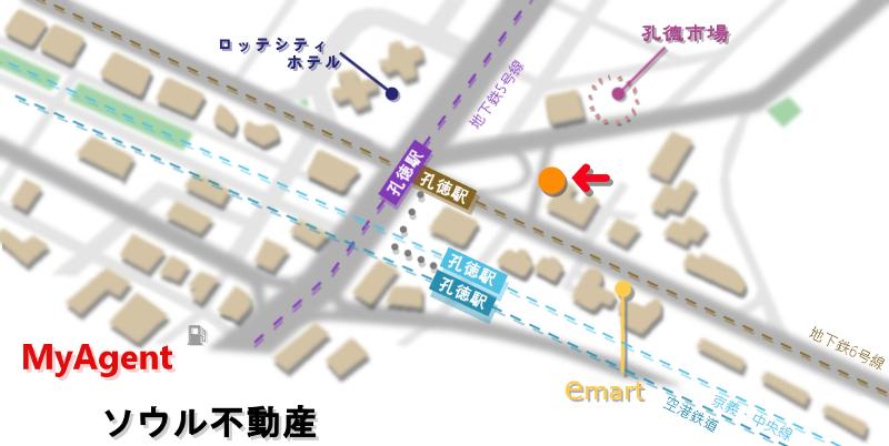 韓国 コンドク ボントシラク地図