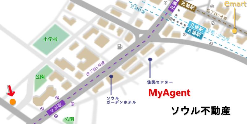 韓国 マポ ボントシラク 地図