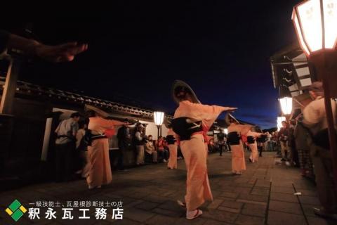 おわら風の盆 瓦のある日本の風景 富山市八尾諏訪町9
