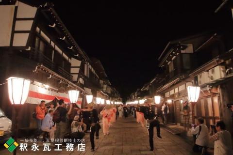 おわら風の盆 瓦のある日本の風景 富山市八尾諏訪町