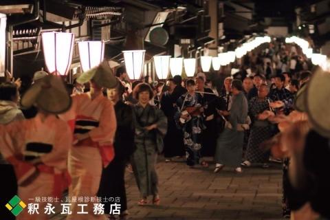 おわら風の盆 瓦のある日本の風景 富山市八尾諏訪町7