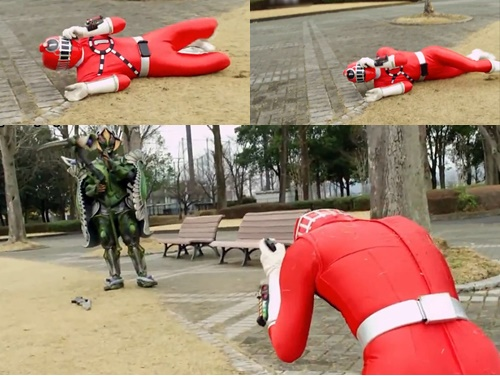 戦隊 ヒーロー トッキュウジャー トッキュウ1号 やられ ピンチ