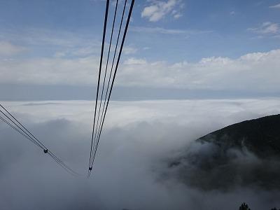 雲の上へ出ました