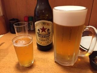 瓶ビール(サッポロ 大瓶) ・ 生ビール(大)