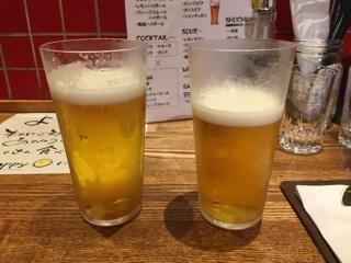 乾杯のビール(プレモル)