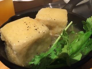 揚げ羊出汁豆腐